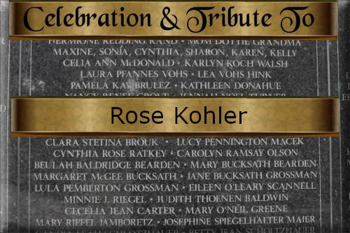 Rose Kohler